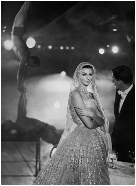 Carmen dell'Orefice Harper's Bazaar, October 1957 Photo Richard Avedon