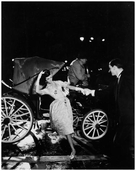 Carmen Dell'Orefice in Lanvin-Castillo, Paris, Harper's Bazaar, October, 1957 Photo Richard Avedon