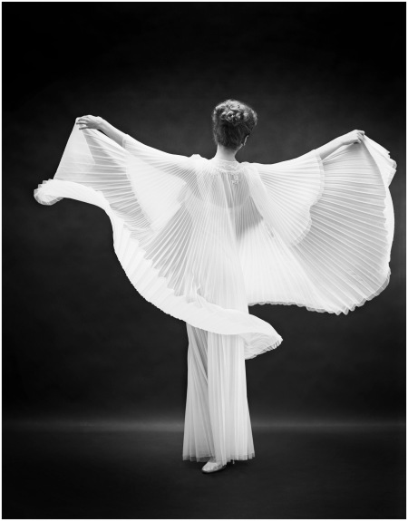 """Fashion"" Model wearing a Vanity Fair gown  1952 Mark Shaw"