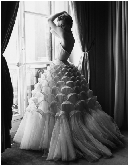 Ivy Nicholson in evening gown by Jacques Griffe, photo by Regina Relang, Paris, 1953