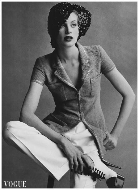 Kristen McMenamy vogue 1995 Seven Meisel