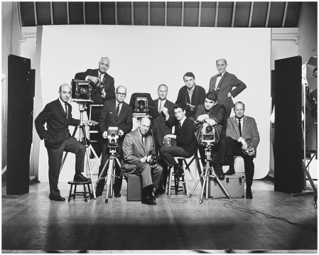 L to R Self-portrait with Famous Photographers, January, 1964