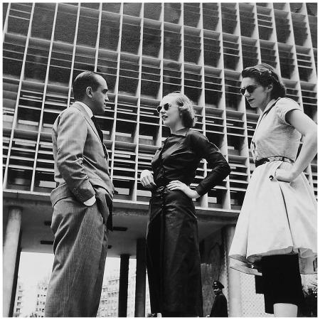 Oscar Niemeyer Shelagh Wilson and Fiona Eylle - Rio De Janeiro 1951 Bauhaus Photo Elsbeth Juda