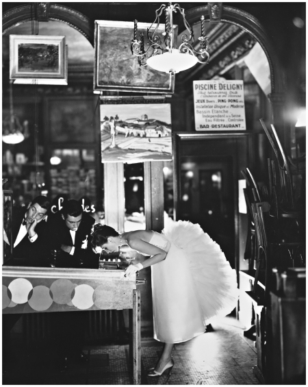 Suzy Parker, Evening Dress by Lanvin-Castillo, Café des Beaux Arts, Paris, August, 1956 Photo Richard Avedon