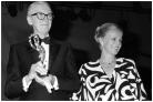 Virna Lisi with James Stewart, 1985 (Lapresse)