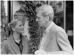 Virna Lisi with Max Von Sydow in «Bugie Bianche», nel 1980