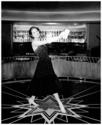 """after eleven at nigh Chez Maurice """", Grit Hübscher in beaded cocktail dress, photo by F.C. Gundlach, 1955"""