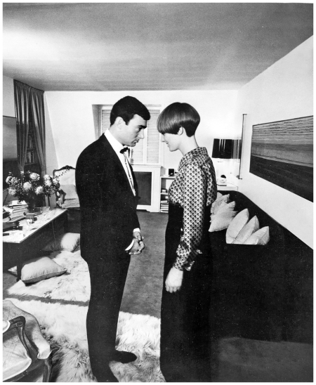 Going head-to-head with Vidal Sassoon, who created his famous Five Point Cut on Coddington, in his Mayfair flat, London, 1964 Vidal Sassoon Archives
