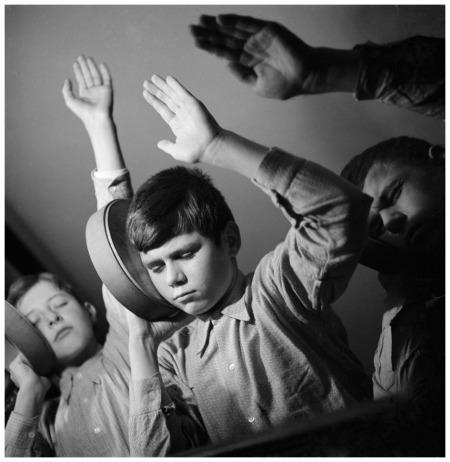 Students at the music teacher Mimi ScheiblauerÕs school for deaf-mute children, Zurich, 1944