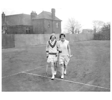Tennis was a popular Jazz Age sport. 1929 Getty