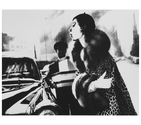 The Spotted Furs, Furred Barbara Mullen in a coat b..., 1954 Photo Lilian Bassman
