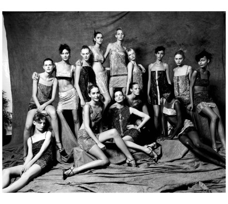 Versace Group Picture, Milan Collections, 1997 Photo sante D'Orazio