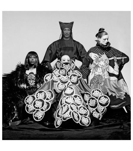 Yamamoto + Models, VOGUE, 1970 - Photo Clive Arrowsmith