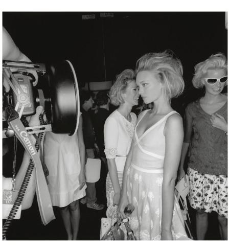 LEE FRIEDLANDER DRESSING UP Gemma Ward backstage at New York Fashion Week Spring 2007