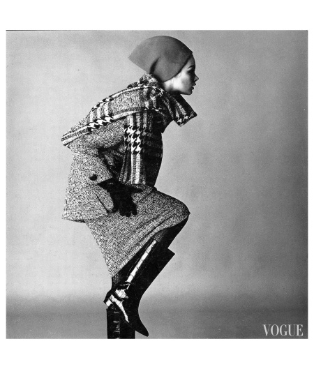 Jean Shrimpton, photo by David Bailey, Vogue, November 1963 b
