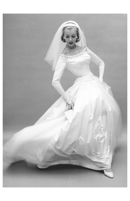Lois Gunas Wideman, The Bride's Magazine, 1957 Photo William Helburn