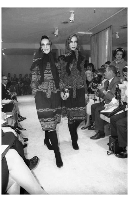 Penelope Tree Oscar de la Renta fashion  New York on May 7, 1970