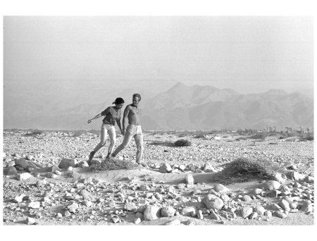 Steve McQueen and Neile Adams, his first wife, in the California desert, 1963.