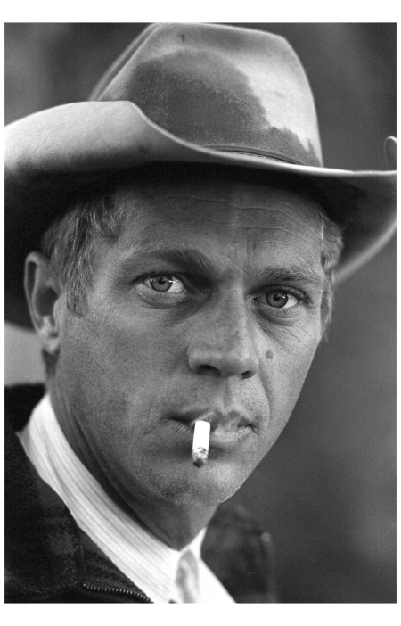 Steve McQueen on a camping trip, 1963.