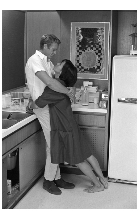 Steve McQueen with his wife, Neile, 1963.