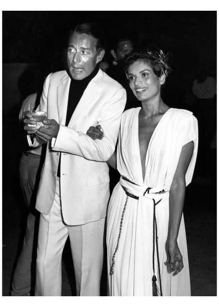 With Halston at her birthday party 1980 Ron Galella