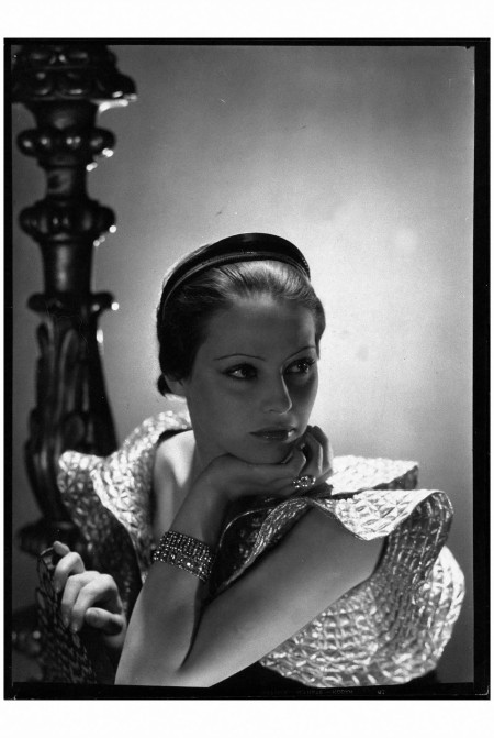 Mme-Hilling, wears Lanvin's Russian diadem George Hoyningen-Huene, Vogue, October 1, 1933