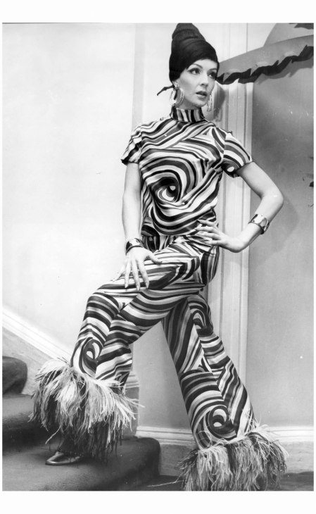 Silk pyjama suit from Dior's spring collection, 1967 Ron Stilling:Associated News:REX