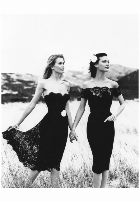 Claudia Schiffer Shalom Harlow - Chanel Campaign 1996 Photo Karl Lagerfeld