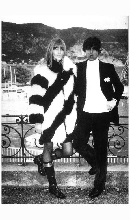 French model and Yves Saint Laurent muse, Betty Catroux (Betty Saint) married French decorator, Francois Catroux 1968