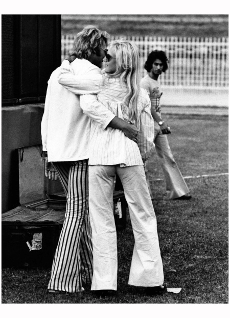Sylvie Vartan With Halladay in Milan, 1973
