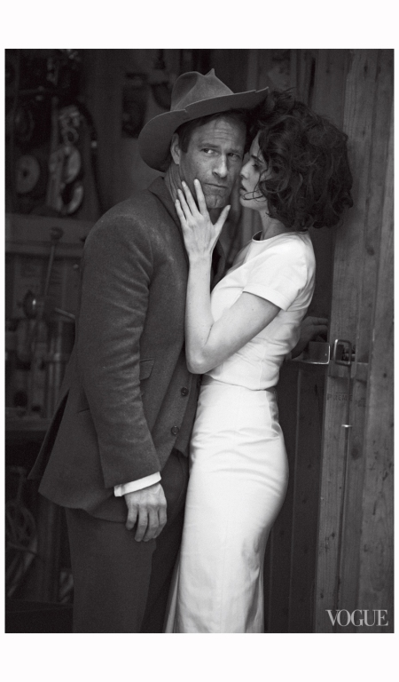 Aaron Eckhart and Lara Stone Peter Lindbergh, Vogue, February 2012