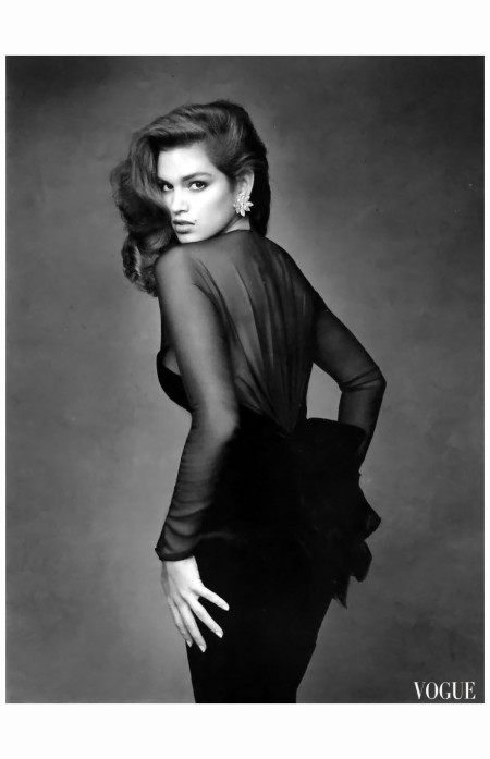 Cindy Ceawford %22Le look noir%22 Vogue Paris October 1987 Photo Patrick Demarchelier a