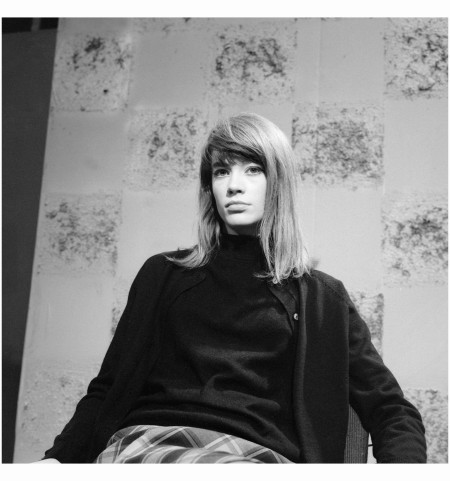 Françoise Hardy -  on the set of ''Discorama''