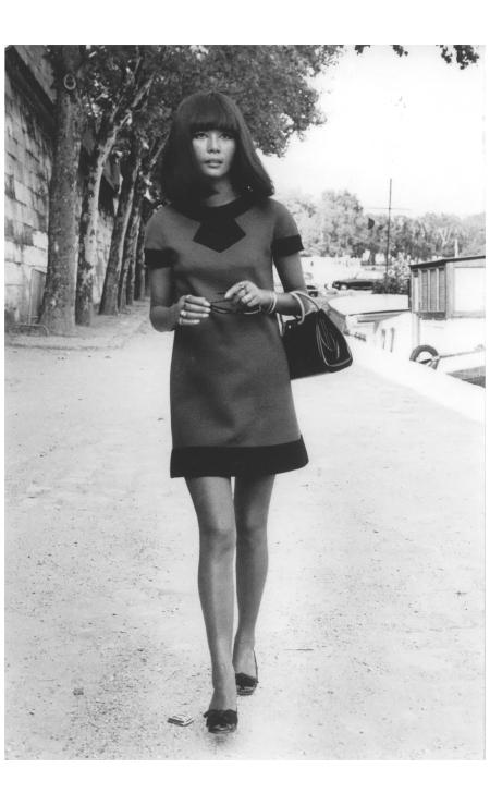Hiroko Matsumoto, Fauvorite model of Pierre Cardin 1960's