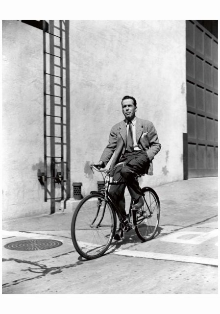 Humphrey Bogart on the backlot at Warner Brothers c1942