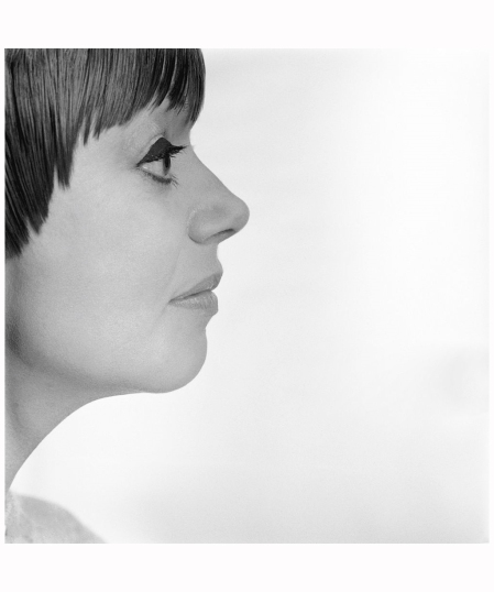 Scottish fashion designer Jean Muir photographed in the Studio on 10th January 1966. Photo Patrick Lichfield