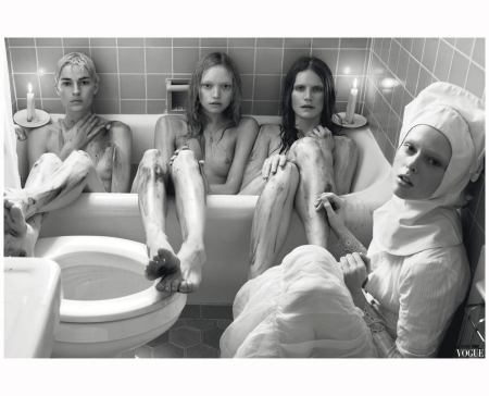 Amanda Moore, Gemma Ward, Missy Rayder and Coco Rocha