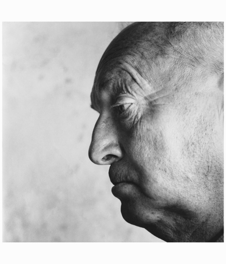 Close-up profile head shot of writer lepidopterist Vladimir Nabokov © Condé Nast Photo Irving Penn
