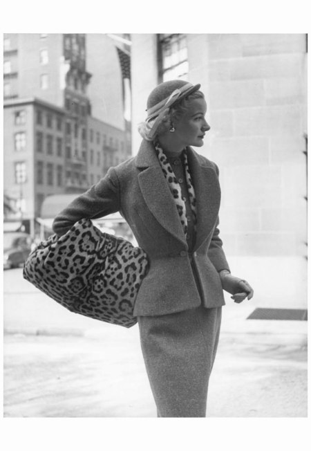 Lady with Leopard Hand Warmer Photo Nina Leen