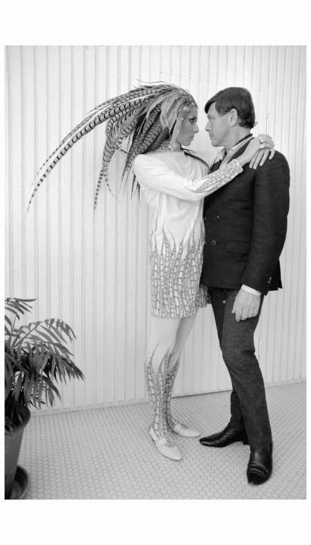 Rudi Gernreich with Leon Bing, 1963 photo Dennis Hopper