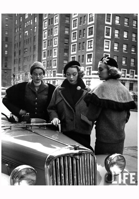 Sophie Malagat center From Woman in Fashion 1951 Photo Nina Leen
