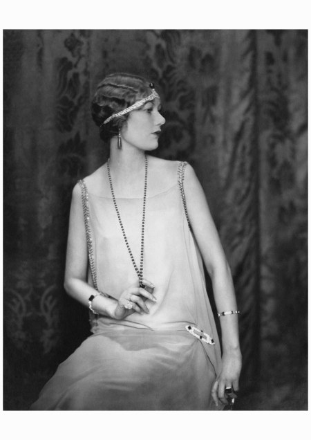Model Alden Gay, photographed by Edward Steichen for Vogue (May 1924), in a style favored by Daisy Buchanan, Jordan Baker, and the rest of Fitzgerald's flapper set