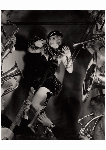 Warner Brothers ingénue Alice White embodies the roaring good times of the Prohibition era. Surrounded by big-band fanfare, she poses for Vanity Fair Florence Vandamm