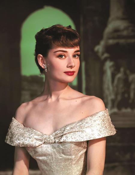Audrey Hepburn as Princess Ann in the 1953 film Roman Holiday.